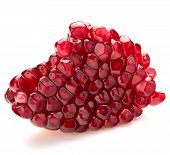 picture of pomegranate  - Ripe pomegranate fruit segment isolated on white background cutout - JPG