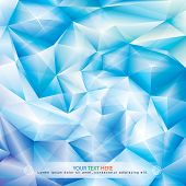 picture of ice crystal  - Abstract ice blue crystal spiral background - JPG