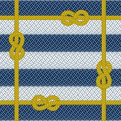 image of roping  - Illustration of woven yellow rope frame on striped rope background - JPG