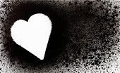 picture of paint spray  - abstract spray paint with heart shape for backgrounds - JPG
