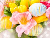 stock photo of colore  - Easter Background - JPG