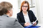 pic of interview  - Job applicant having an interview - JPG