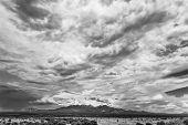 picture of humidity  - Humidity buildup in sky during monsoon season in Arizona USA - JPG
