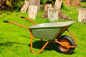 stock photo of wheelbarrow  - Gardening - JPG