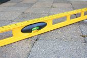 picture of spirit  - spirit level used to level the pavers or bricks - JPG