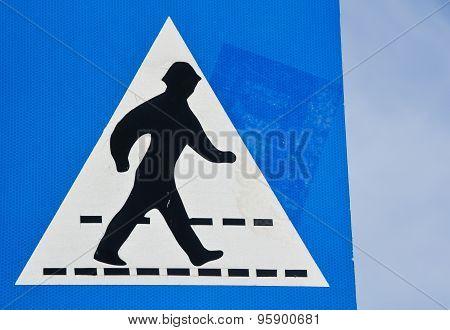 Greek Crosswalk Sign Pedestrian Crossing