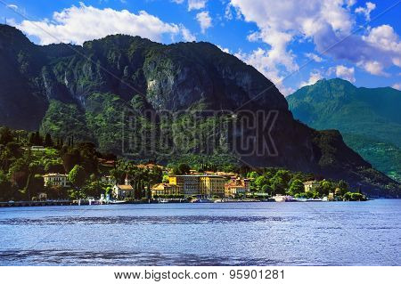 Cadenabbia Town, Como Lake District Landscape. Italy, Europe.