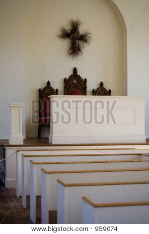 Interior Of Small Town Church 015