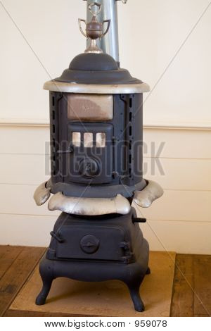 Wood Stove In Small Town Church 016