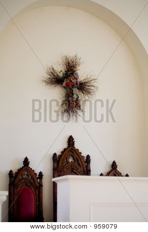 Interior Of Small Town Church 017