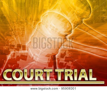 Abstract background digital collage concept illustration court trial legal justice