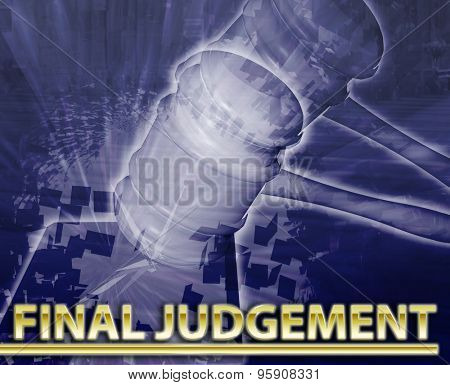 Abstract background digital collage concept illustration final judgement legal justice