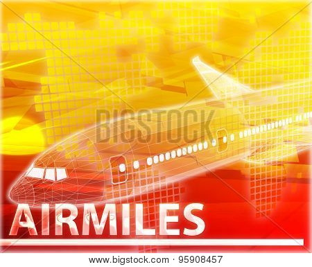 Abstract background digital collage concept illustration airmiles air travel miles