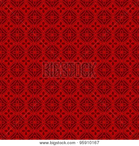 Seamless Chinese window tracery polygon round flower pattern background.
