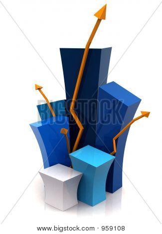 3D Wachstum Illustration