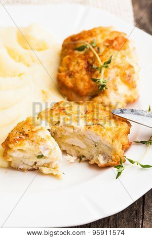 Cutlets with potato