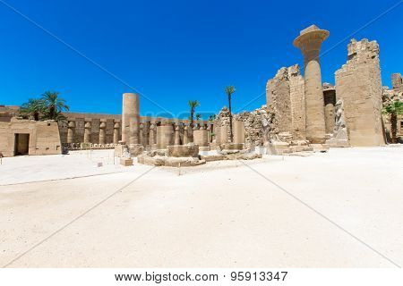 Ancient ruins of Karnak temple in Egypt