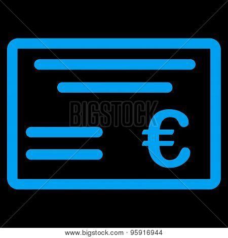 Cheque Icon From Bicolor Euro Banking Set