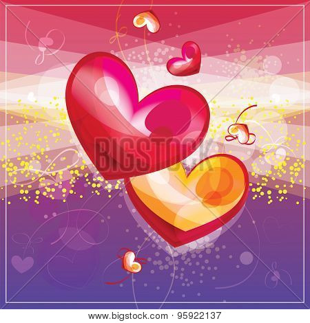 Couple Of Hearts, Valentine card