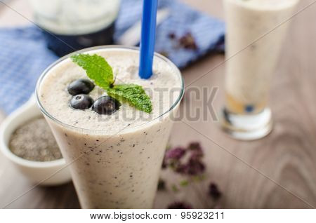 Blueberries Milk Shake