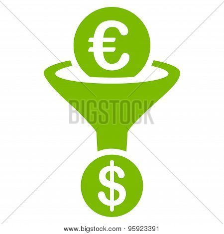 Currency conversion icon from BiColor Euro Banking Set