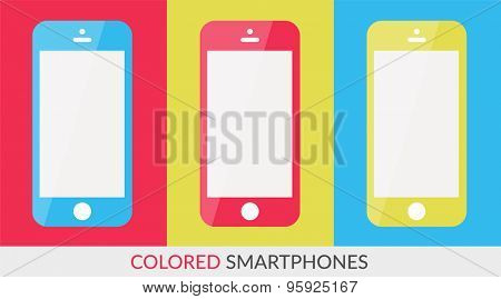 Phone concept isolated on white background for business design.