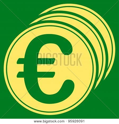 Euro coins icon from BiColor Euro Banking Set