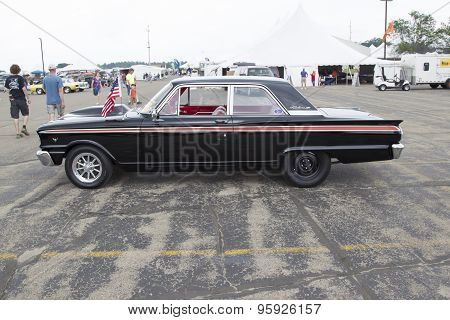 1963 Ford Fairlane 2 Door Sedan Car Side View