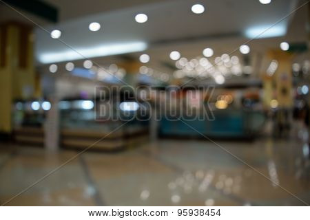 Blurred In Department Store