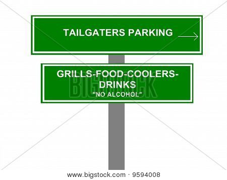 Tailgaters Parking Sign