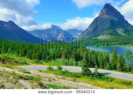 Alpine Landscape Of The Glacier National Park