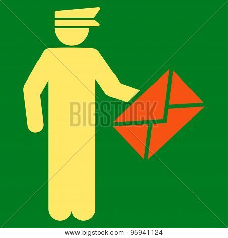 Postman icon from Business Bicolor Set