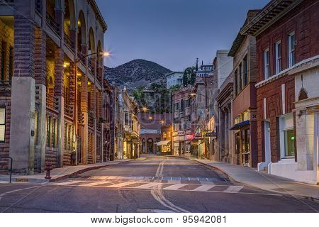 Old Town Bisbee Arizona At Night