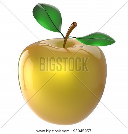 Yellow apple fruit nutrition ripe antioxidant fresh exotic food