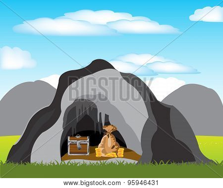 Cave with treasure
