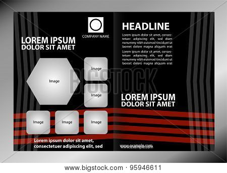 Vector empty brochure template design elements