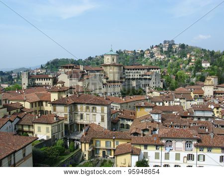 View of Bergamo in Italy