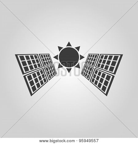 The Solar Panel Icon. Green Energy Symbol. Flat