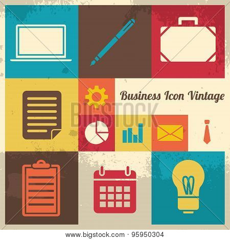 Vintage Business Icon