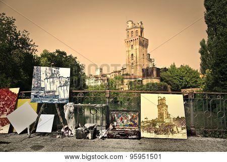 Paintings of Torre della Specola in Padua