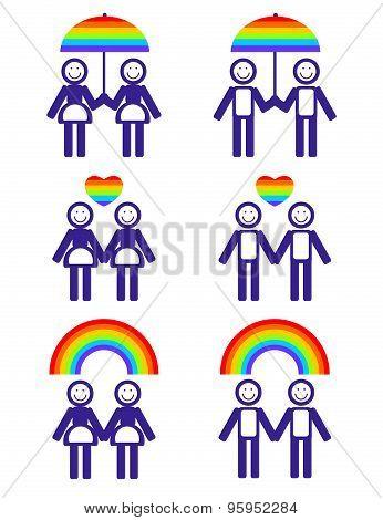 gay couple symbols