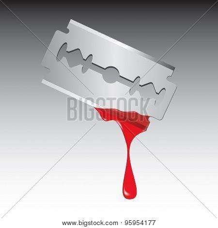 Razor Blade With Blood