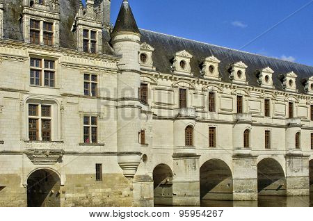 Renaissance Castle Of Chenonceau In Indre Et Loir