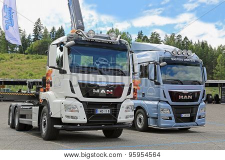 Two New MAN TGS And TGX Trucks In A Show