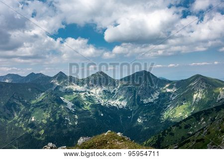 Amazing Summer Mountains Under Blue Sky With Clouds