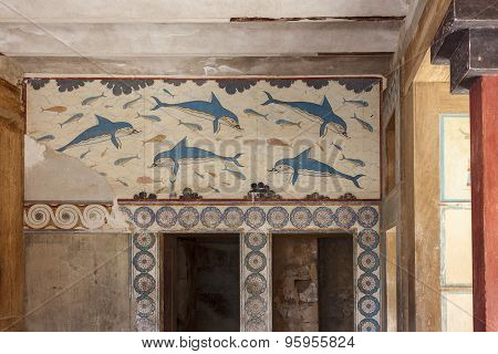 Queen s Megaron. Palace of Knossos, Crete, Greece