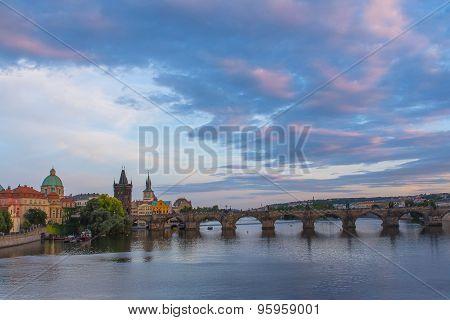 Amazing Sunset in Prague.