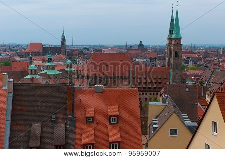 City view in Nuremberg.