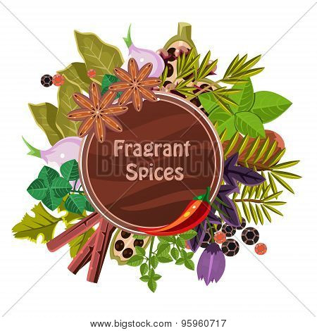 Herbs and Spices Decorative Elements
