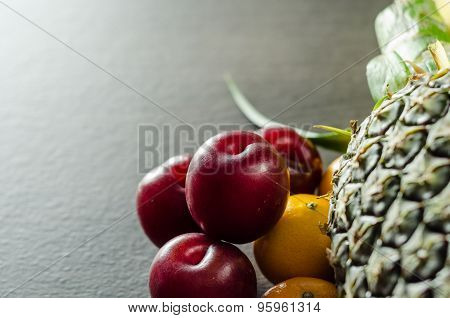 Colorful Fruits On Table